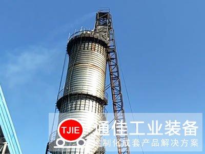 河南新乡日产200吨立式石灰窑生产线